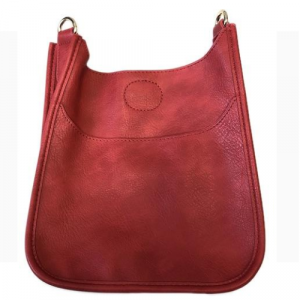 AHDORNED RED MINI VEGAN MESSENGER