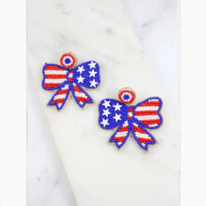 AMERICAN BETSY ROSS BOW EARRINGS