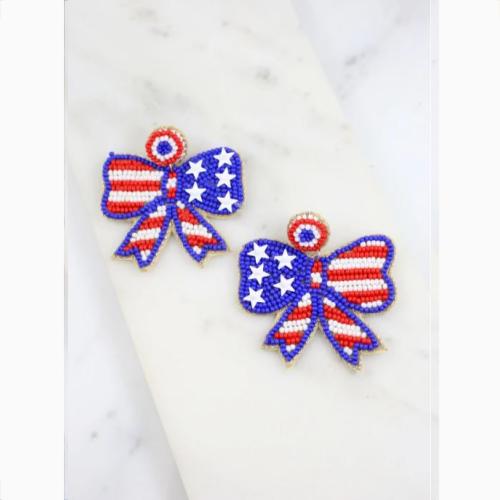 AMERICAN BETSY ROSS BOW EARRINGS