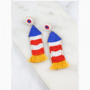AMERICAN FIRECRACKER ROCKET EARRINGS