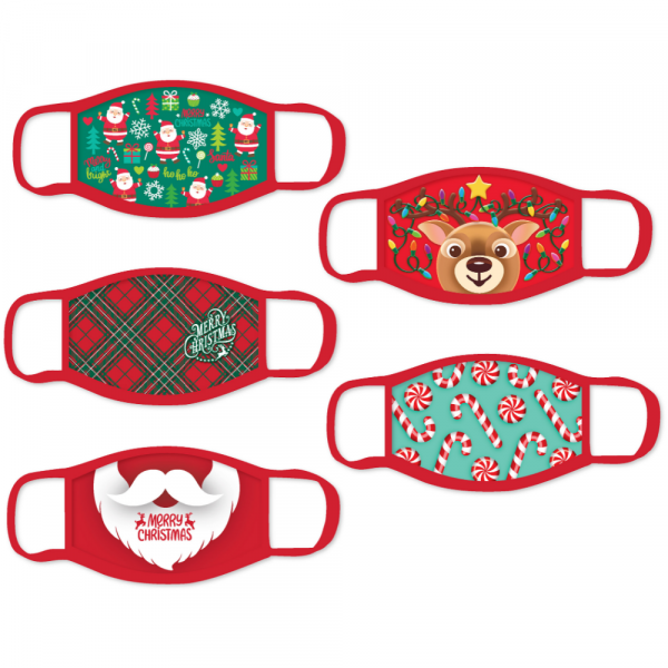 ASSORTED ADULT CHRISTMAS FACE MASKS