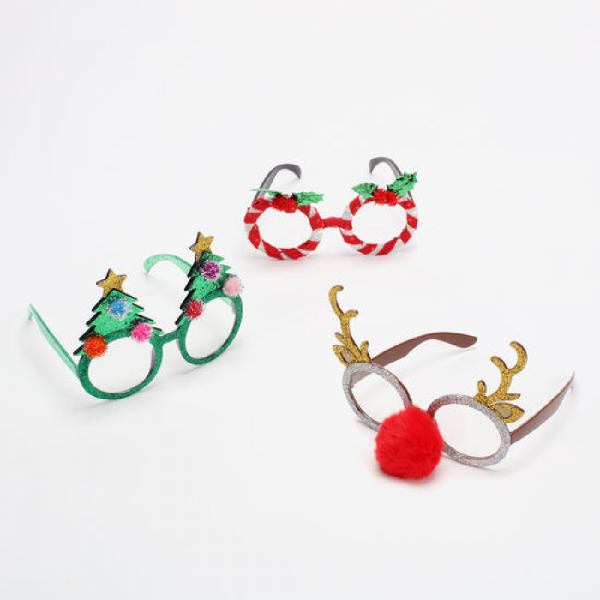 ASSORTED HOLIDAY GLASSES