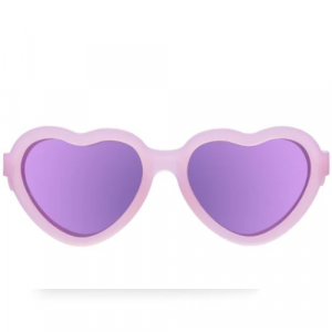 BABIATORS THE INFLUENCER PINK HEART SUNGLASSES AGES 3-5