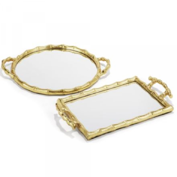 BAMBOO MIRRORED TRAYS