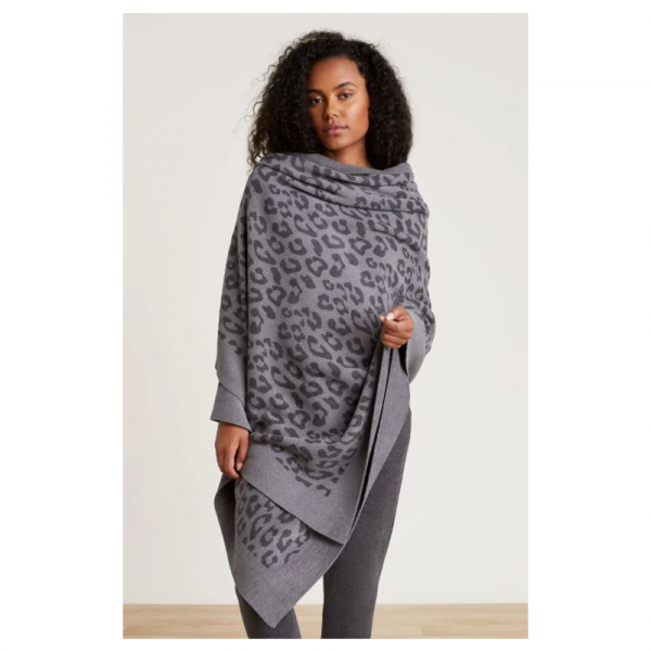 BAREFOOT DREAMS BAREFOOT IN THE WILD PASHMINA- GRAPHITE CARBON