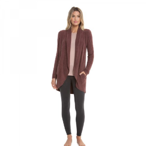 BAREFOOT DREAMS COZYCHIC CIRCLE CARDI IN ROSEWOOD
