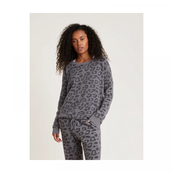 BAREFOOT DREAMS COZYCHIC  ULTRA LITE BAREFOOT IN THE WILD SLOUCHY PULLOVER- GRAPHITE CARBON