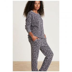 BAREFOOT DREAMS COZYCHIC ULTRA LITE BAREFOOT IN THE WILD TRACK PANT- GRAPHITE CARBON