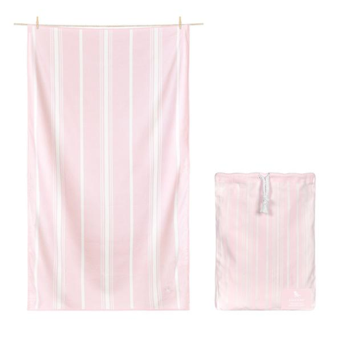 DOCK & BAY BATH TOWEL IN PEPPERMINT PINK