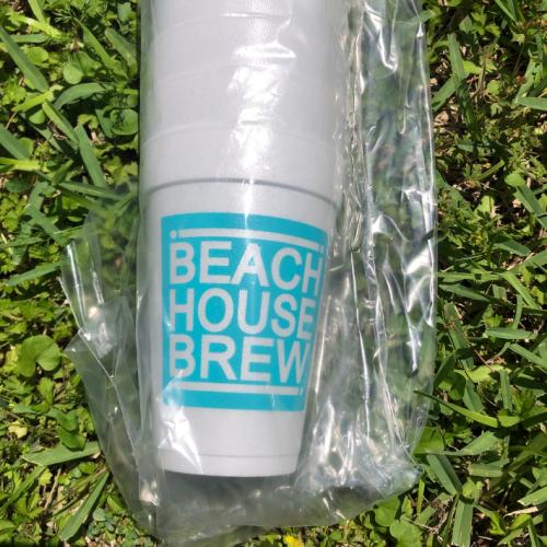 BEACH HOUSE BREW STYROFOAM CUPS