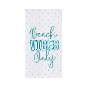 BEACH VIBES ONLY DISH TOWEL