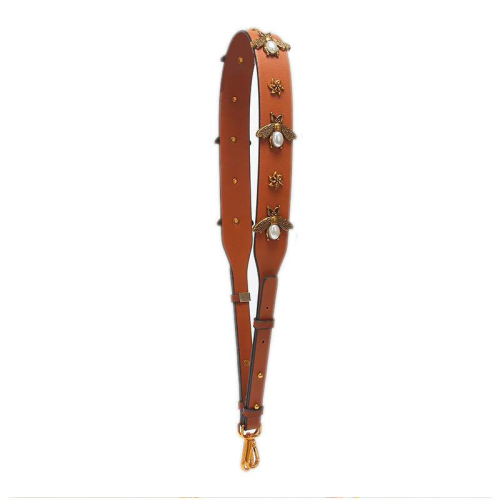 BEE PURSE STRAP IN SADDLE