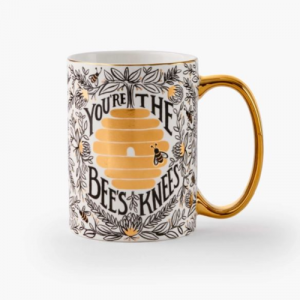 BEE'S KNEES PORCELAIN MUG