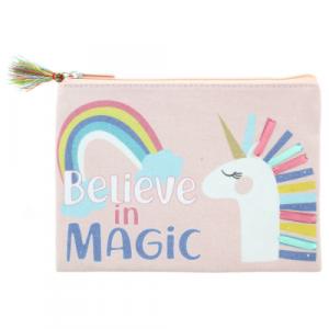 BELIEVE IN MAGIC UNICORN PENCIL BAG