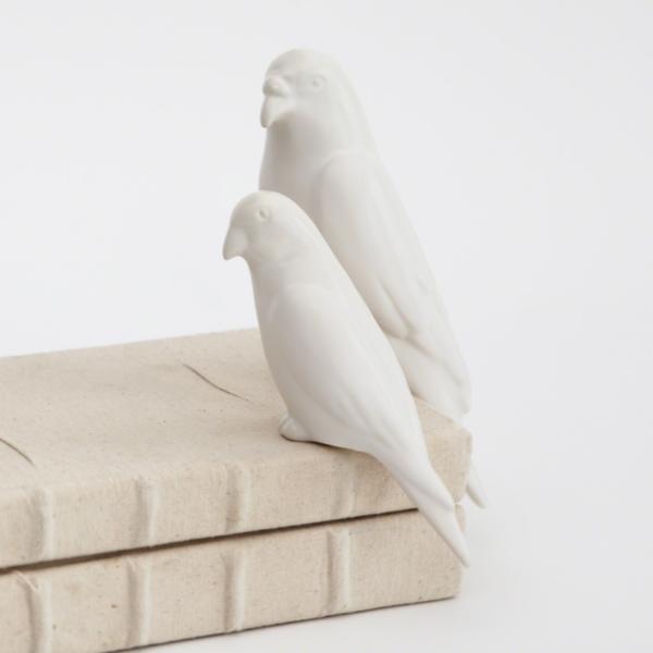 BOOK BIRD MATTE WHITE