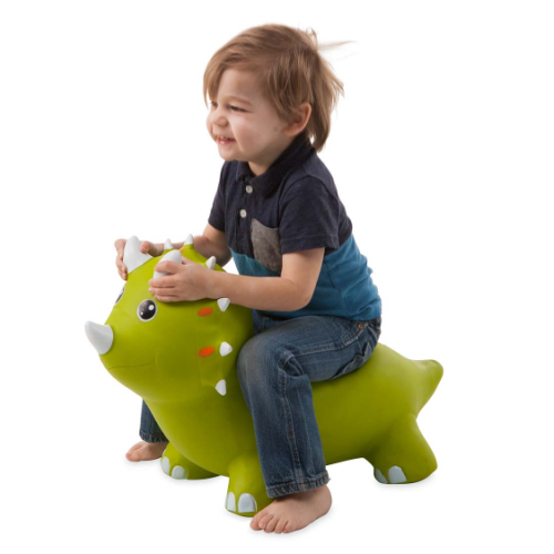 BOUNCY INFLATABLE GREEN TRICERATOPS