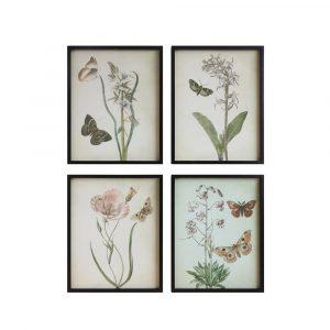 BUTTERFLY FLOWERS WALL DECOR