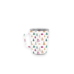 CAUS COFFEE TUMBLER WITH HANDLE IN WHIMSICAL WINTER 12 OZ