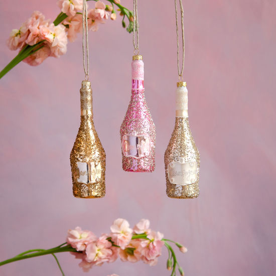 CHAMPAGNE BOTTLE ORNAMENTS