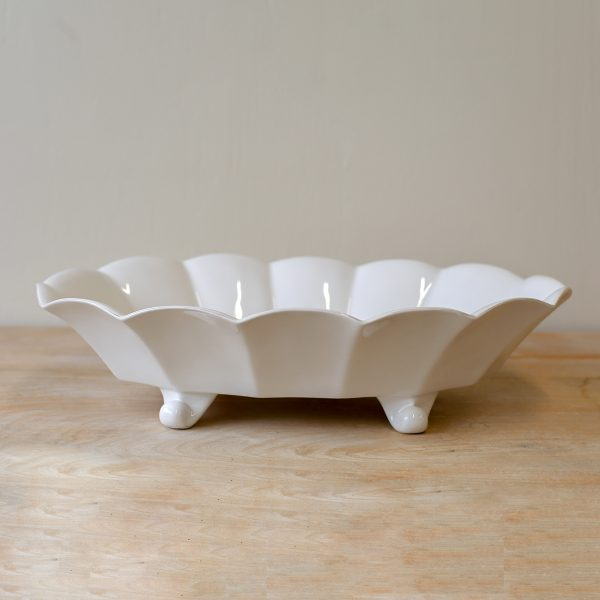 CHARTRES FOOTED SERVING BOWL