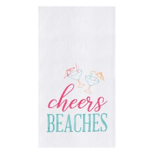 CHEERS BEACHES DISH TOWEL