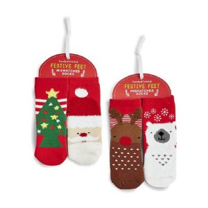 CHILDRENS CHRISTMAS MISMATCHED SOCKS