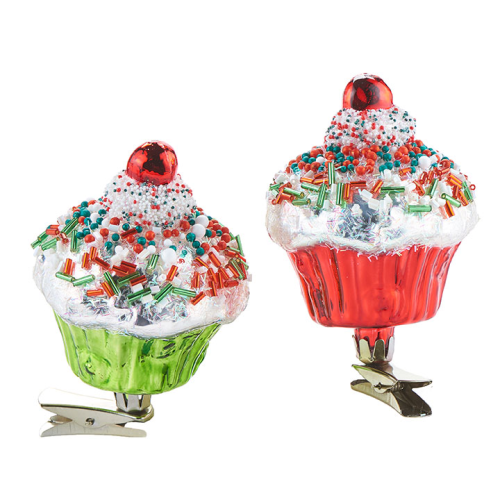 CLIP-ON CUPCAKE ORNAMENT
