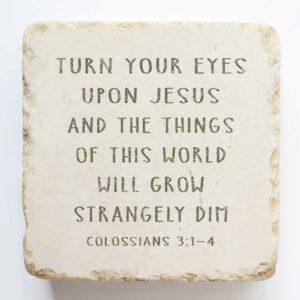 COLOSSIANS 3:1-4 STONE BLOCK