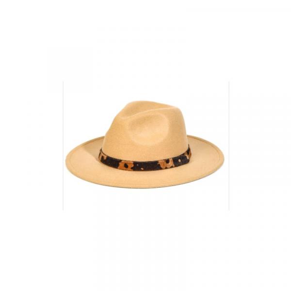 COW STRAP FEDORA HAT