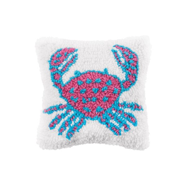 CRAB HOOKED PILLOW