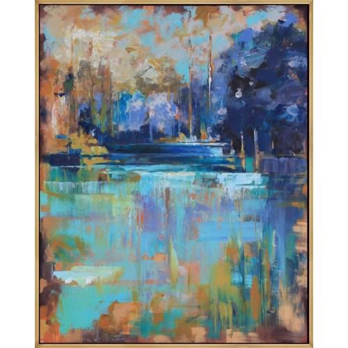 ARTIST GUILD OF AMERICA CYAN LAKE WITH LAGUNA GOLD ART