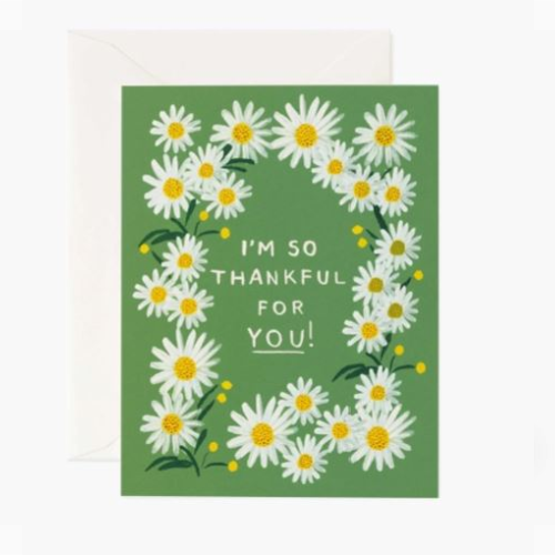 RIFLE PAPER DAISIES THANKFUL FOR YOU CARD