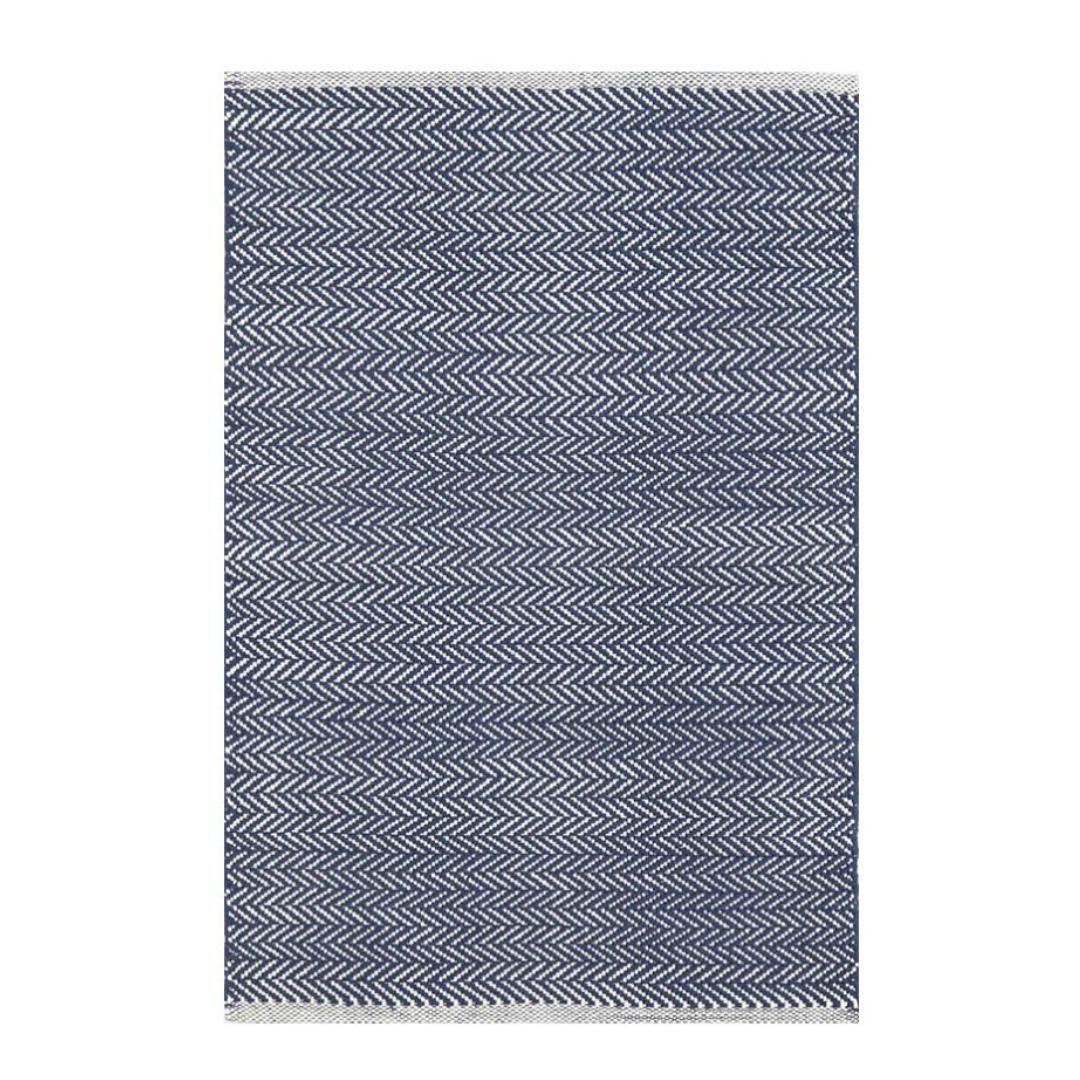 Dash Amp Albert Herringbone Woven Cotton Rug Indigo