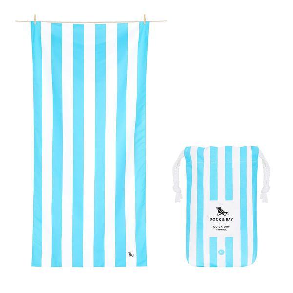 DOCK & BAY QUICK DRY TOWEL- TULUM BLUE