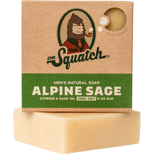 DR. SQUATCH 5 OZ MEN'S NATURAL SOAP- ALPINE SAGE