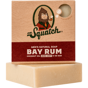 DR. SQUATCH 5 OZ MEN'S NATURAL SOAP - BAY RUM