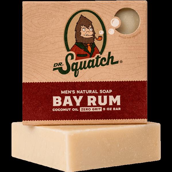 DR. SQUATCH 5 OZ MEN'S NATURAL SOAP - BAY RUM