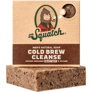DR. SQUATCH 5 OZ. MEN'S NATURAL SOAP - COLD BREW CLEANSE