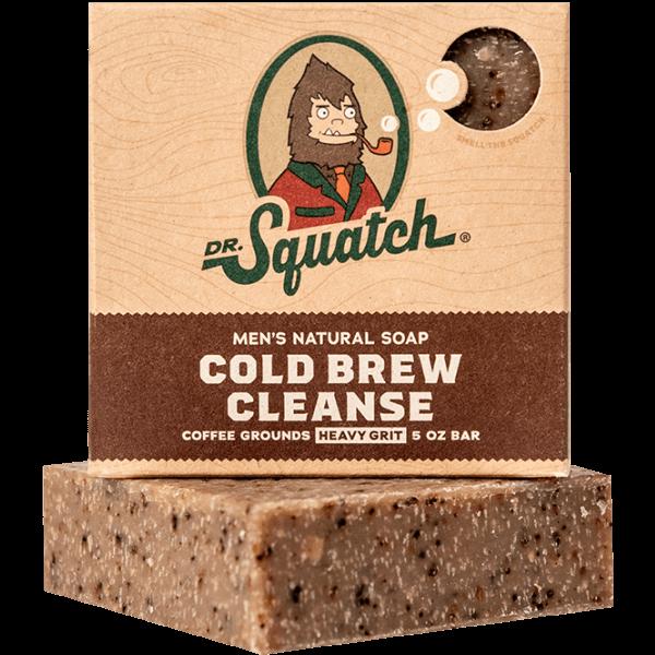 DR. SQUATCH 5 OZ. MEN'S NATURAL SOAP - COLD BREW CLEANSE