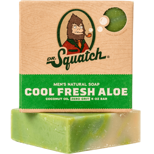 DR. SQUATCH  5 OZ MEN'S NATURAL SOAP  - COOL FRESH ALOE
