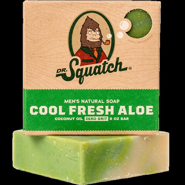 DR. SQUATCH  5 OZ MEN'S NATURAL SOAP  - COOL FRESH ALOE