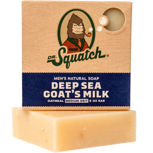 DR. SQUATCH 5 OZ MEN'S NATURAL SOAP - DEEP SEA GOAT'S MILK
