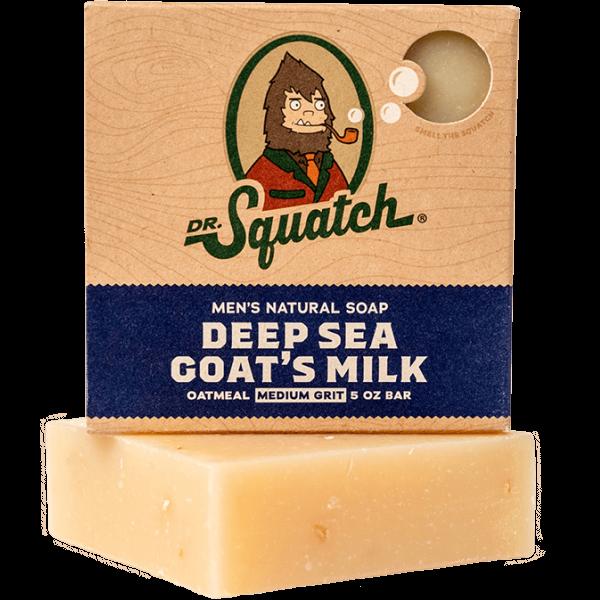 DR. SQUATCH 5 OZ MEN'S NATURAL SOAP - DEEP SEA GOAT'S MILK