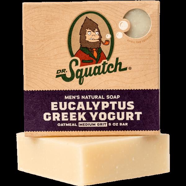 DR. SQUATCH - 5 OZ MEN'S NATURAL SOAP- EUCALYPTUS YOGURT