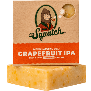 DR. SQUATCH 5 OZ. MEN'S NATURAL SOAP - GRAPEFRUIT IPA