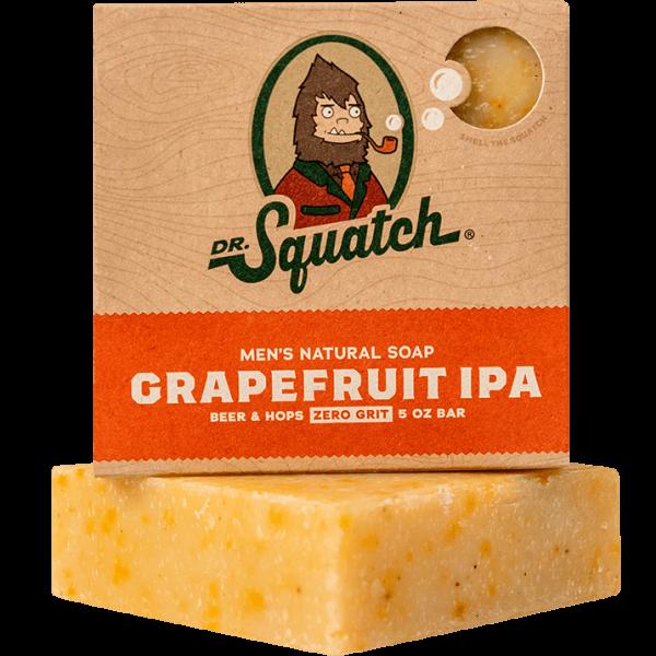 DR. SQUATCH 5 OZ. MEN'S NATURAL SOAP - GRAPEFRUIT IPA