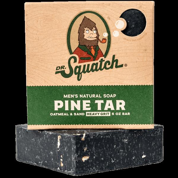 DR. SQUATCH 5 OZ MEN'S NATURAL SOAP - PINE TAR