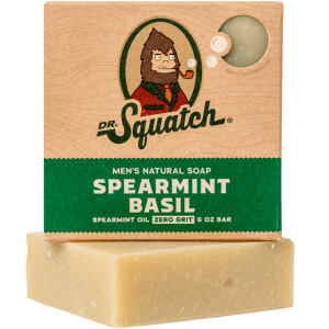 DR. SQUATCH 5 OZ. MEN'S NATURAL SOAP - SPEARMINT