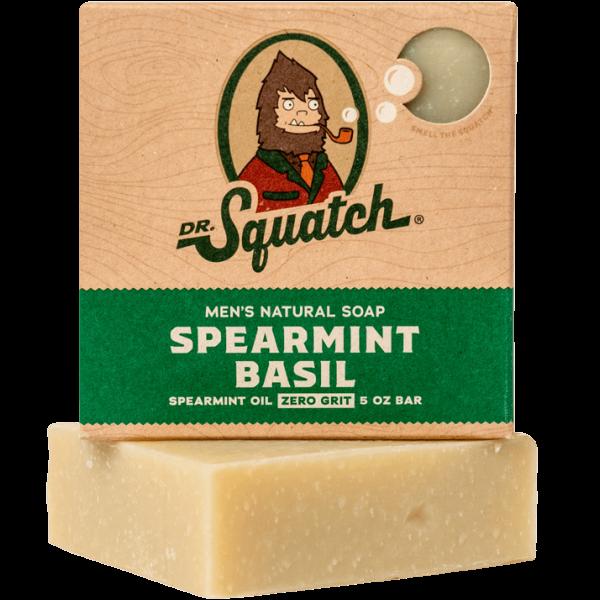 DR. SQUATCH 5 OZ. MEN'S NATURAL SOAP - SPEARMINT