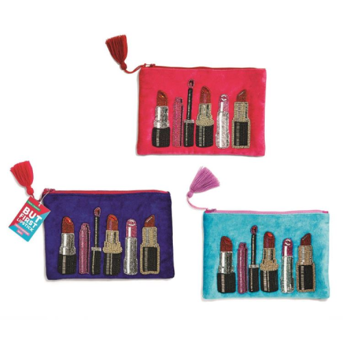 EMBROIDERED LIPSTICK POUCHES